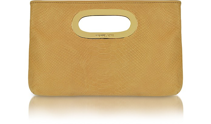 Berkley Tan Leather Clutch - Michael Kors