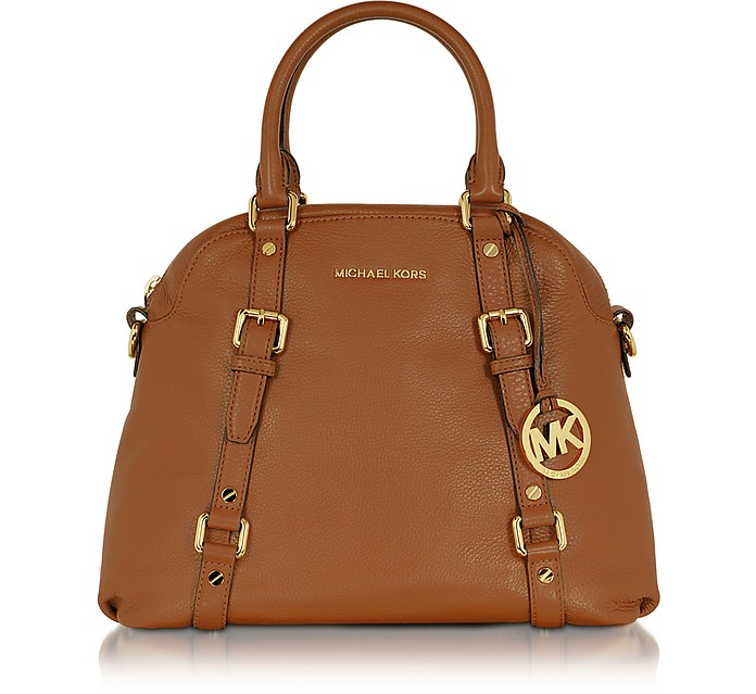 Bedford Genuine Leather Bowling Satchel Bag - Michael Kors
