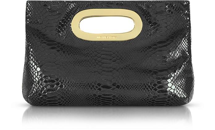 Berkley Python-Embossed Leather Clutch - Michael Kors