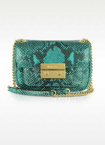 Michael Sloan Snake Embossed Leather Shoulder Bag - Michael Kors