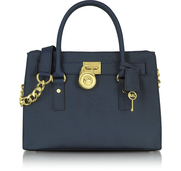 Hamilton Saffiano Leather East/West Satchel Tote - Michael Kors