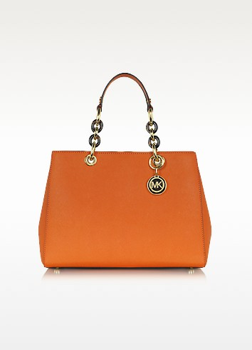 Cynthia Saffiano Leather Medium Satchel - Michael Kors