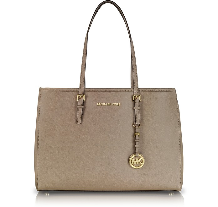 Jet Set Travel Saffiano Leather Tote Medium - Michael Kors