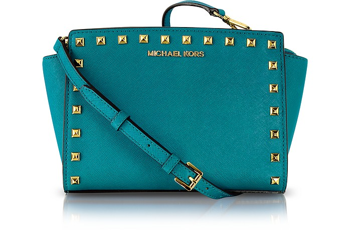 Selma Studded Saffiano Leather Crossbody Bag - Michael Kors