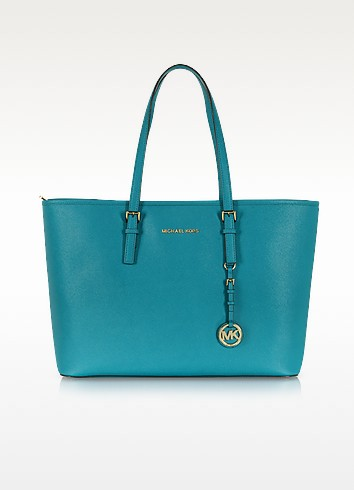 Jet Set Travel Multifunction Saffiano Leather Tote - Michael Kors