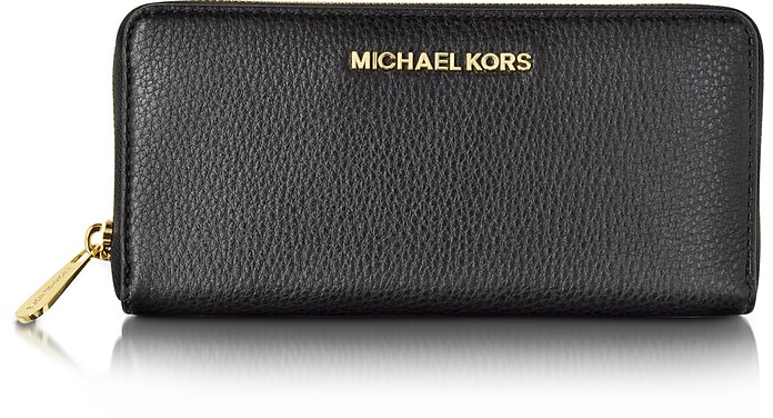 Bedford Black Leather Continental Wallet - Michael Kors