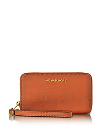 Jet Set Travel - Grand Portefeuille en Cuir Saffiano Orange - Michael Kors