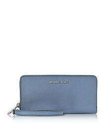 Jet Set Travel - Grand Portefeuille en Cuir Bleu Denim - Michael Kors