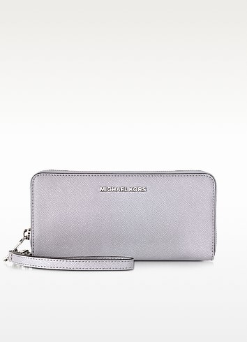 Jet Set Travel Lilac Saffiano Leather Tech Continental Wallet - Michael Kors