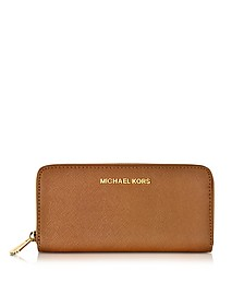 Luggage Jet Set Travel Continental Brieftasche aus Saffianleder - Michael Kors