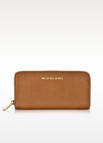 Luggage Jet Set Travel Saffiano Leather Continental Wallet - Michael Kors
