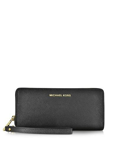 Jet Set Travel Large Continental Wristlet Leather Wallet - Michael Kors