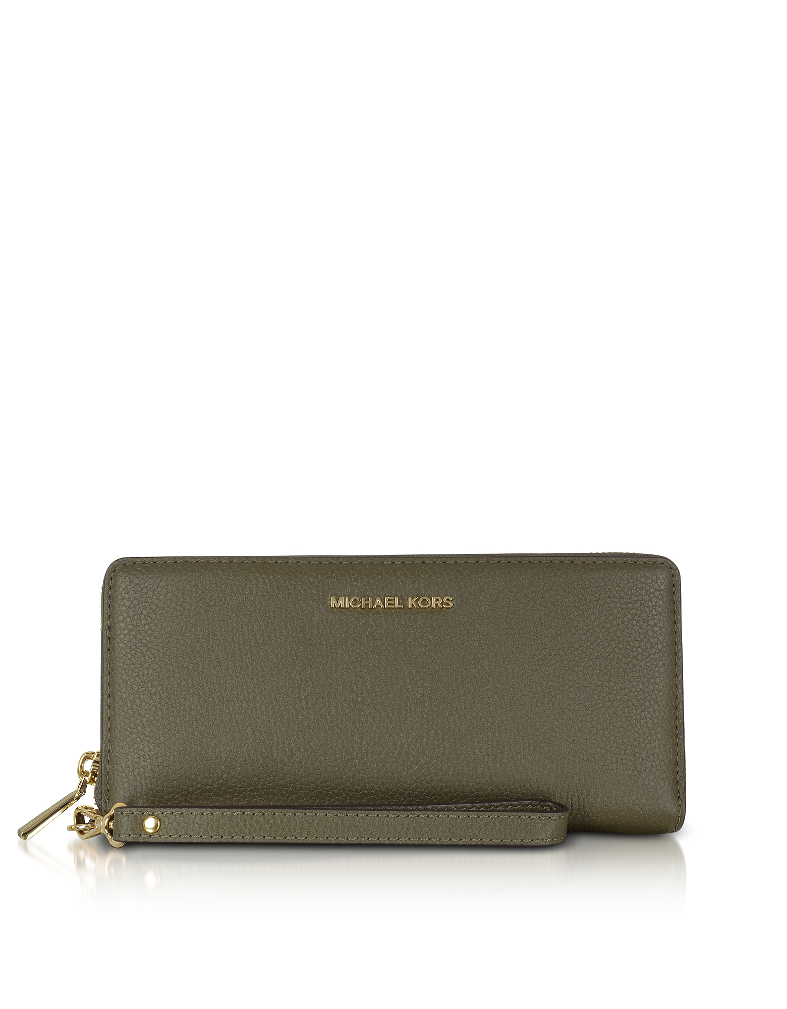Michael Kors Handbags, Mercer Large Olive Pebble Leather Continental Wallet