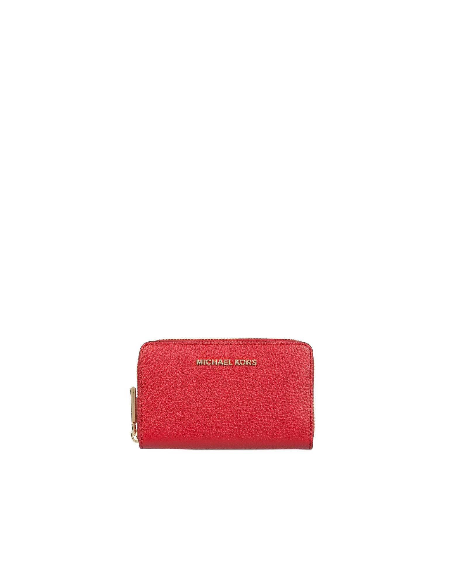 Michael Kors Designer Wallets, Compact Card Holder With Logo