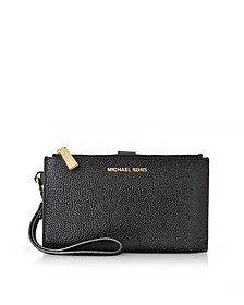 Adele Black Pebble Leather Smartphone Wristlet - Michael Kors