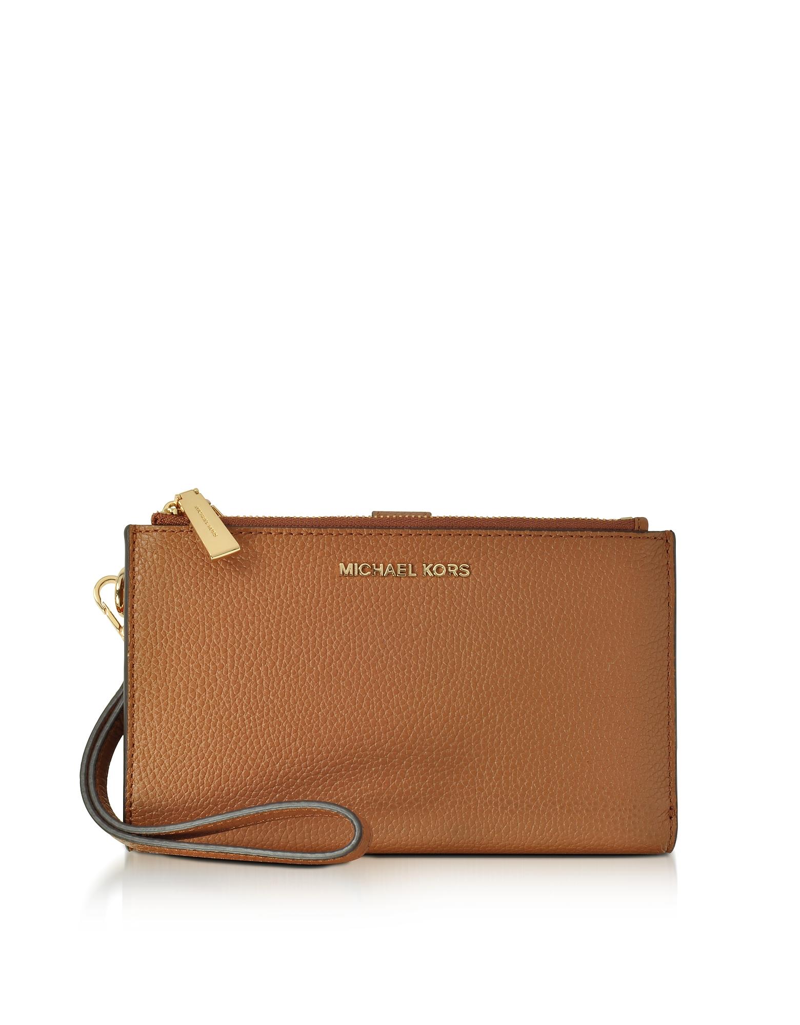 Michael Kors Handbags, Adele Acorn Pebble Leather Smartphone Wristlet