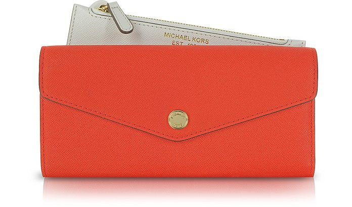 Color Block Saffiano Leather Carryall Wallet - Michael Kors