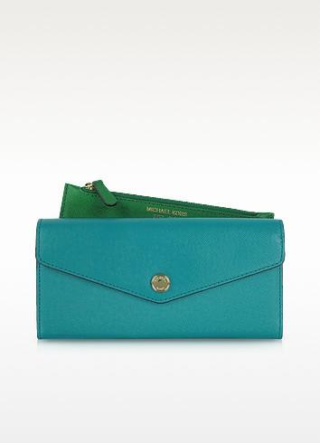 Color Block Saffiano Leather Carryall Wallet - Michael Kors