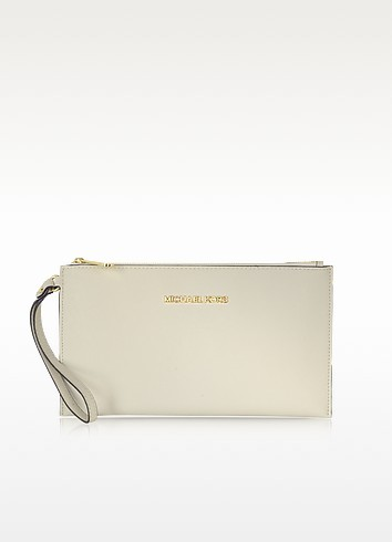 Large Jet Set Travel Zip Clutch  - Michael Kors