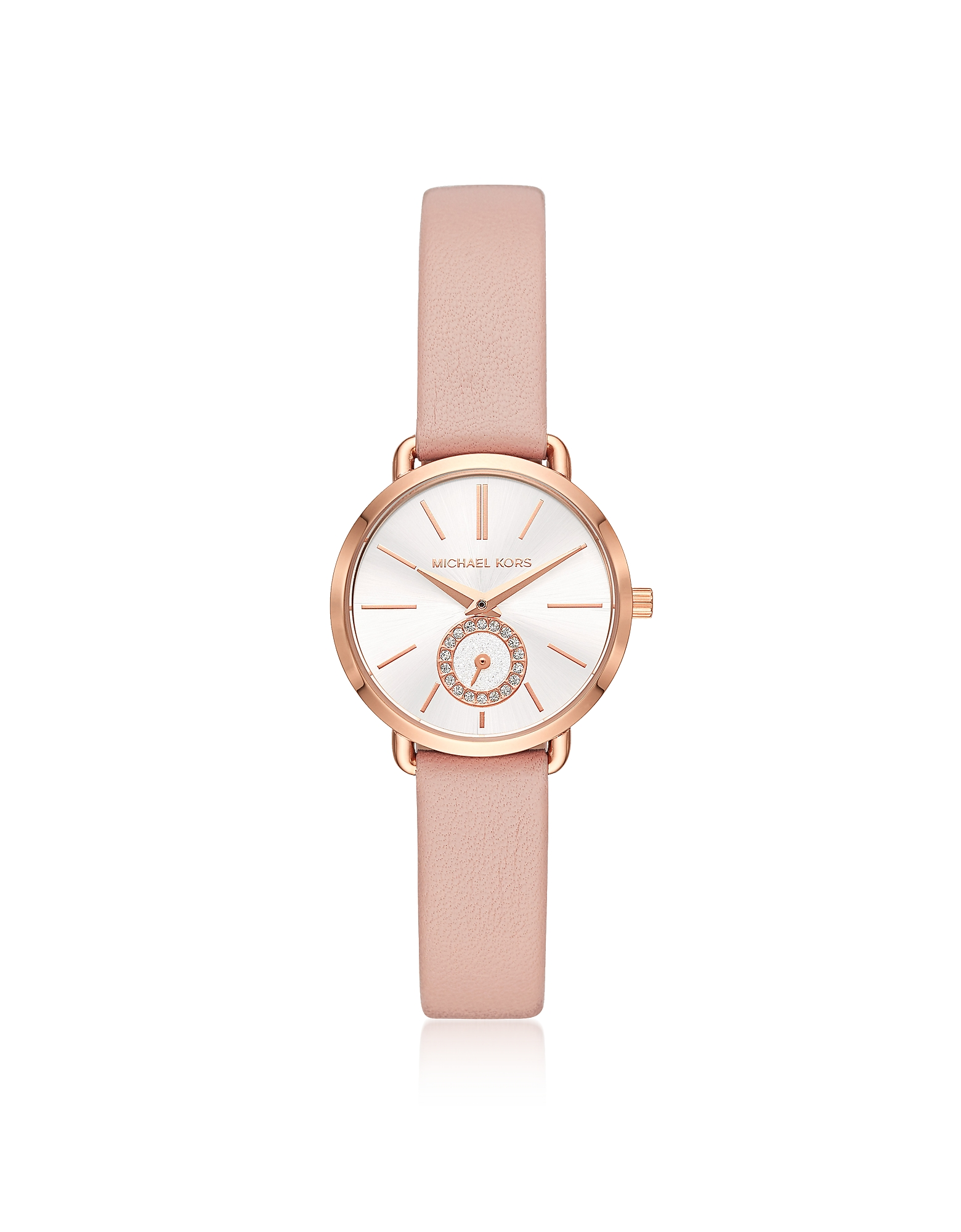 Michael Kors Michael Kors Women's Rose Gold-Tone and Blush Leather Portia Watch