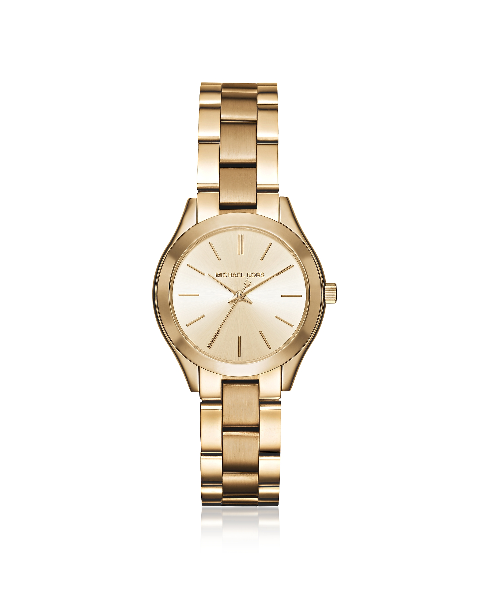Michael Kors Designer Women's Watches, Mini Slim Runway Gold Tone Women's Watch