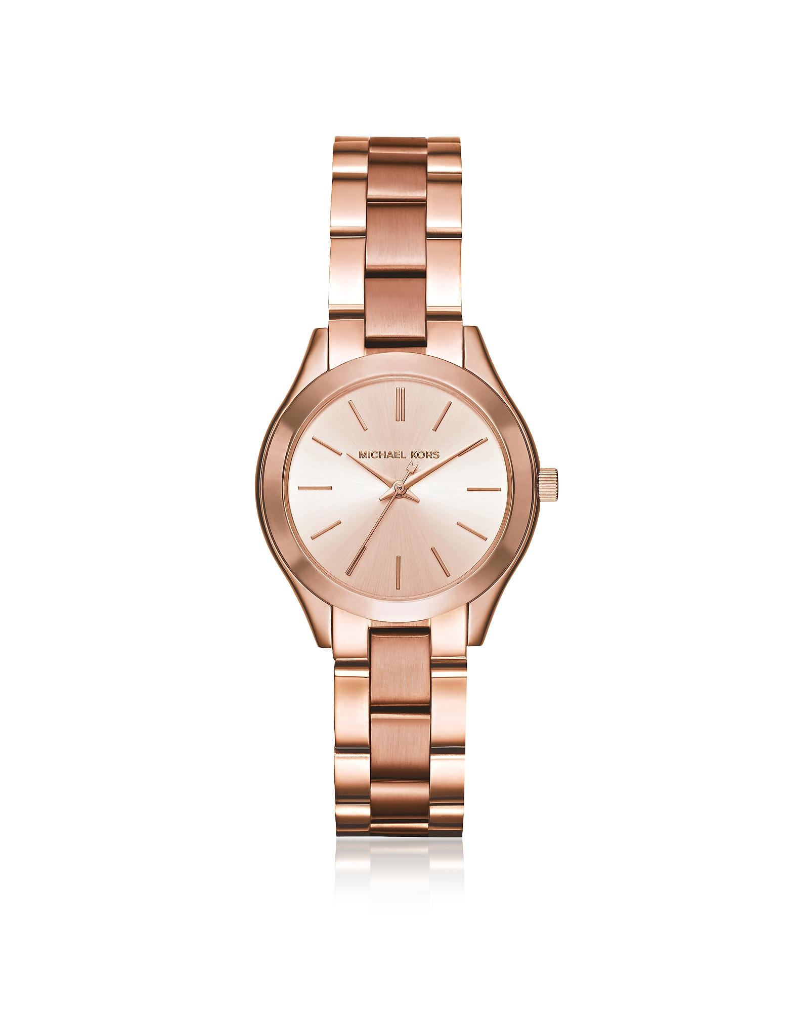 Женские Часы Оттенка Розового Золота Mini Slim Runway Michael Kors