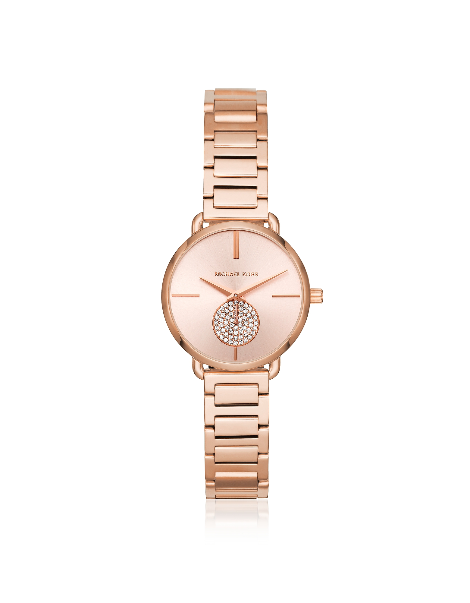 Michael Kors Women's Watches, Petite Portia Rose Gold Tone Watch