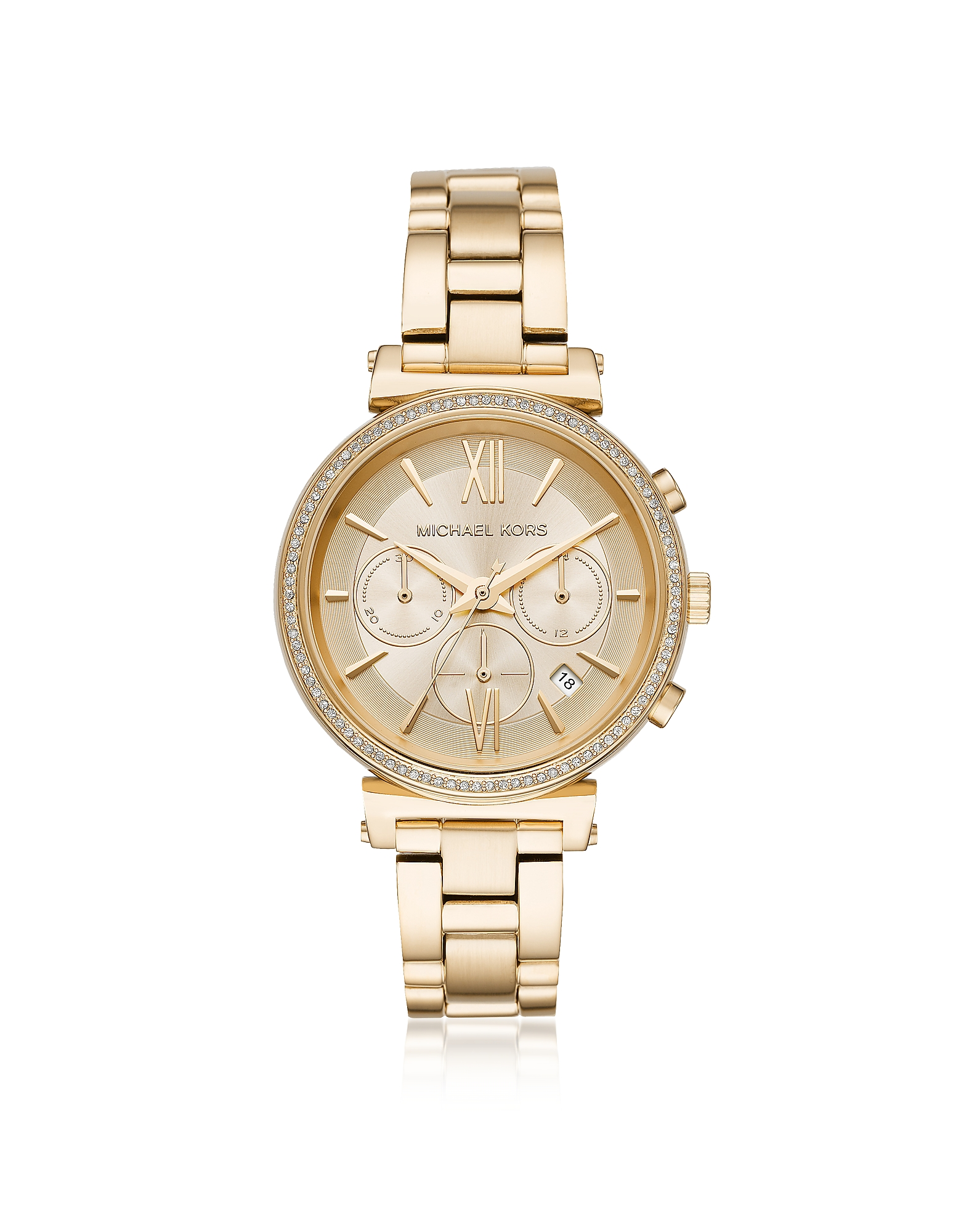 Michael Kors Women's Watches, Sofie Pavé Gold-Tone Women's Watch