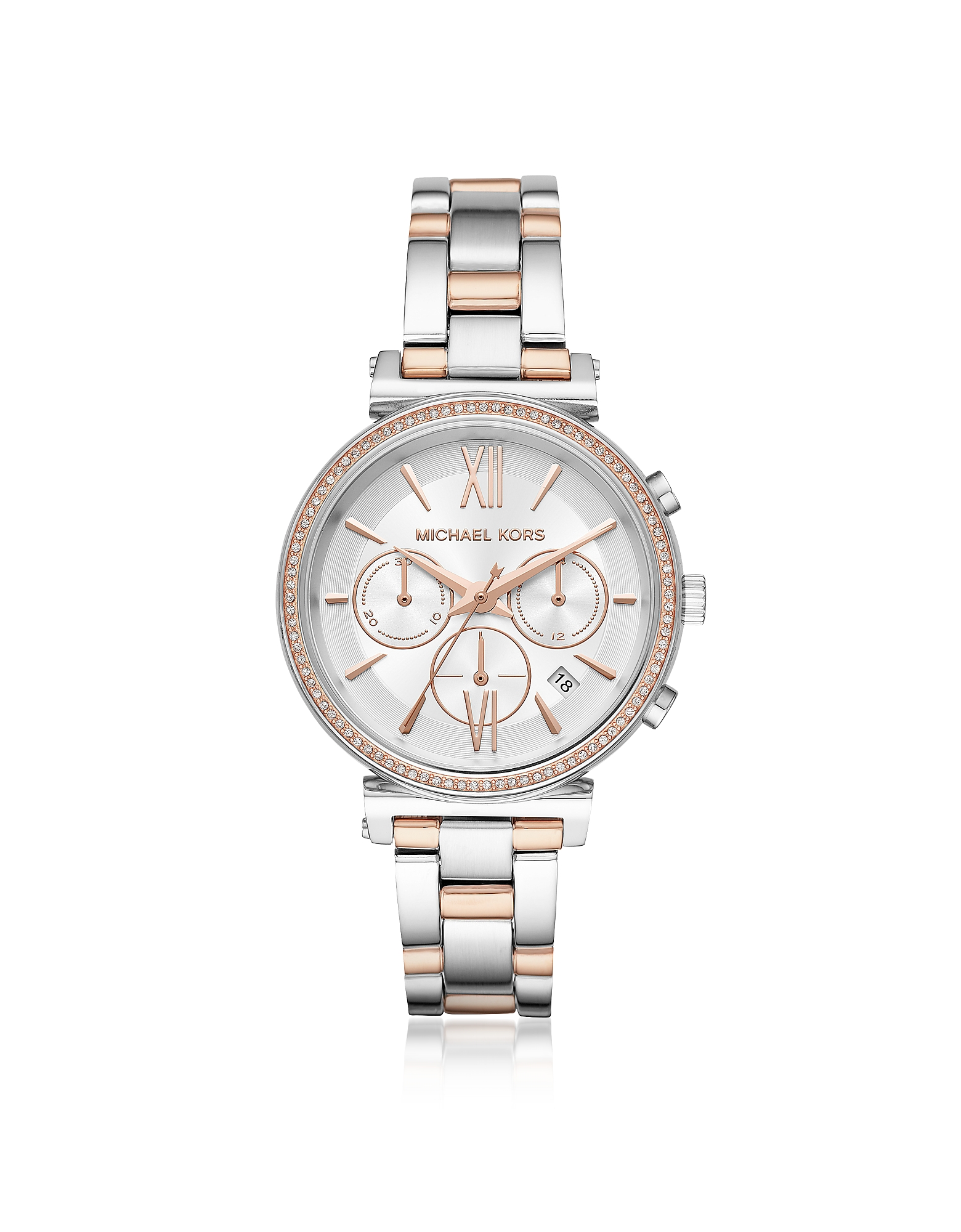 Michael Kors Women's Watches, Sofie Pavé Two-Tone Women's Watch