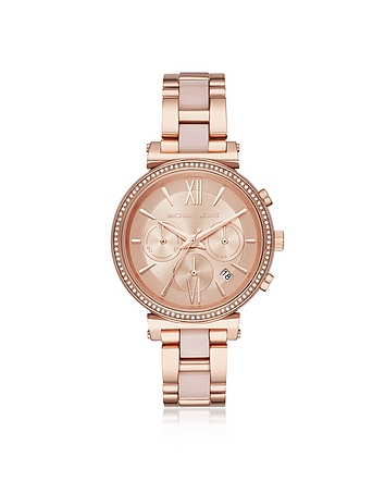 Sofie Rose Gold-Tone and Acetate Women's Watch