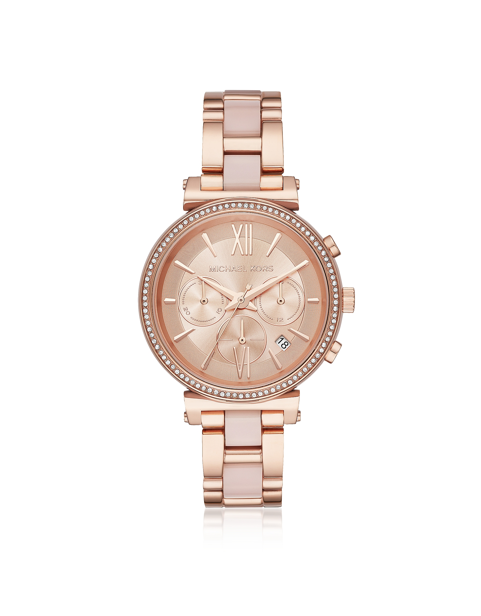 Michael Kors Women's Watches, Sofie Rose Gold-Tone and Acetate Women's Watch