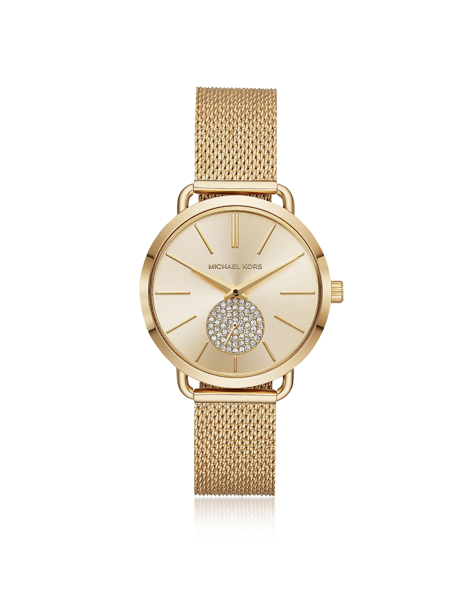 Michael Kors Women's Watches, Portia Mesh Gold Tone Watch