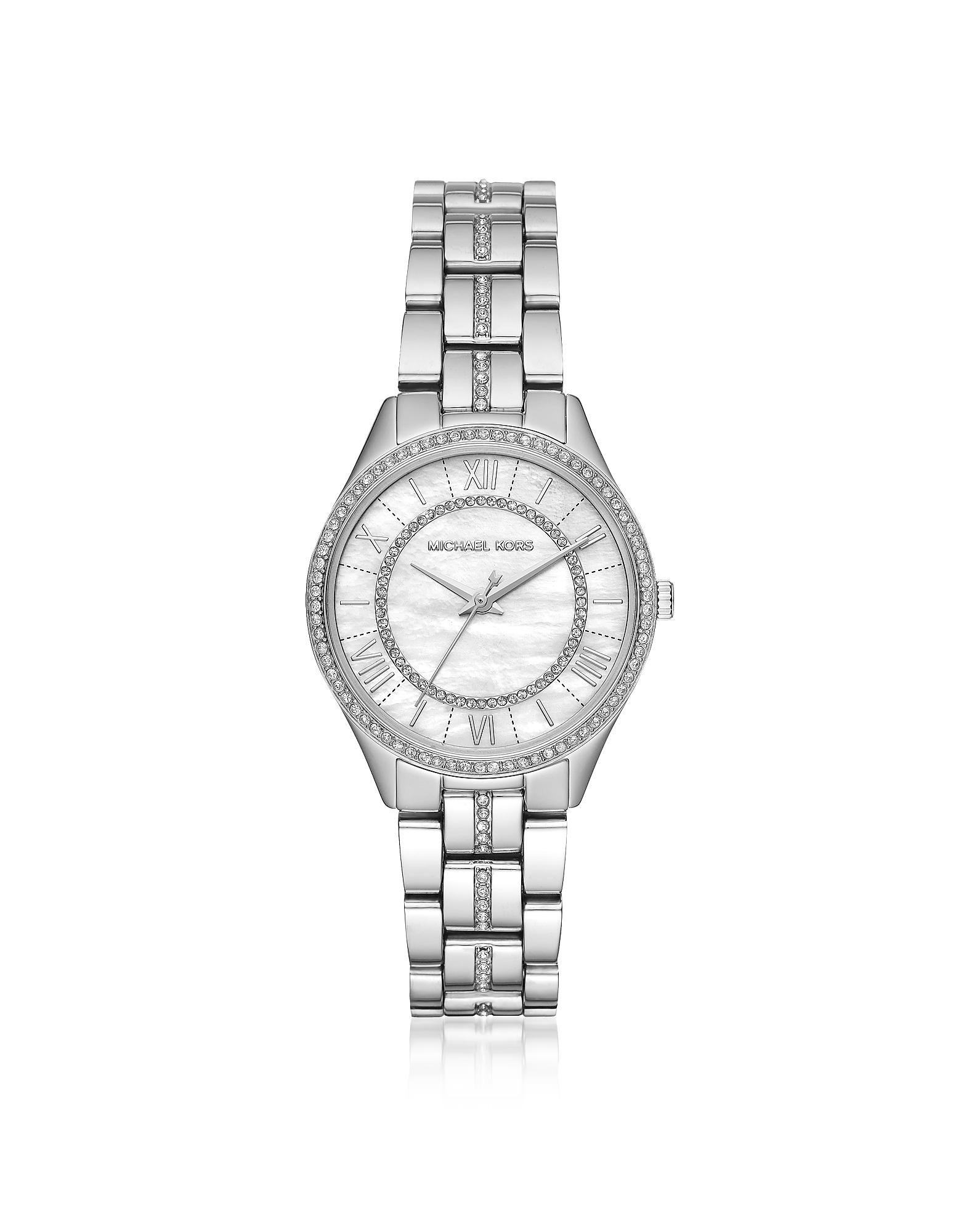 Michael Kors Women's Watches, Mini Lauryn Pavé Silver Tone Women's Watch