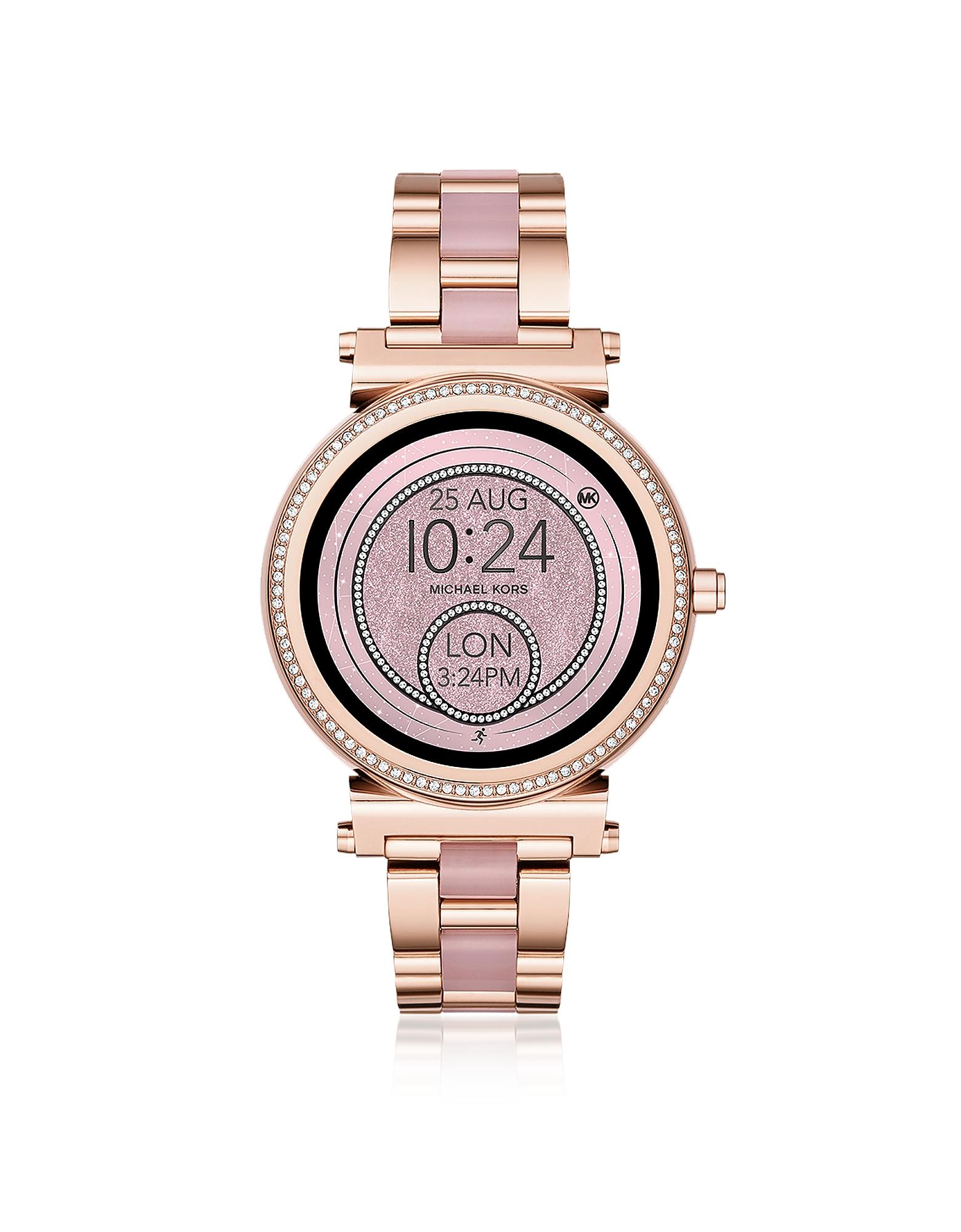 Michael Kors Sofie - Часы Touchscreen Смарт Оттенка Розового Золота с Деталями из Ацетата