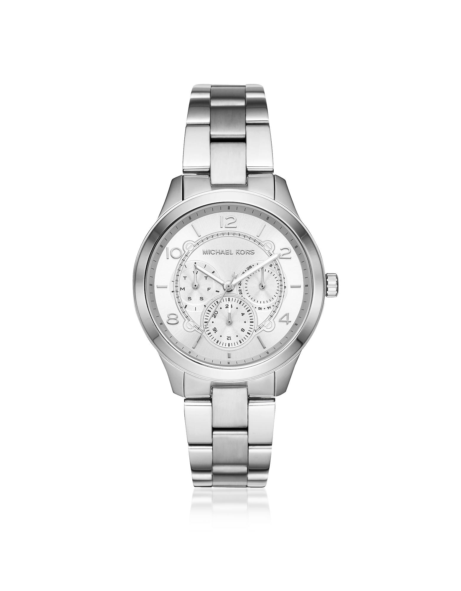 Runway Silver Tone Multi-Function Watch