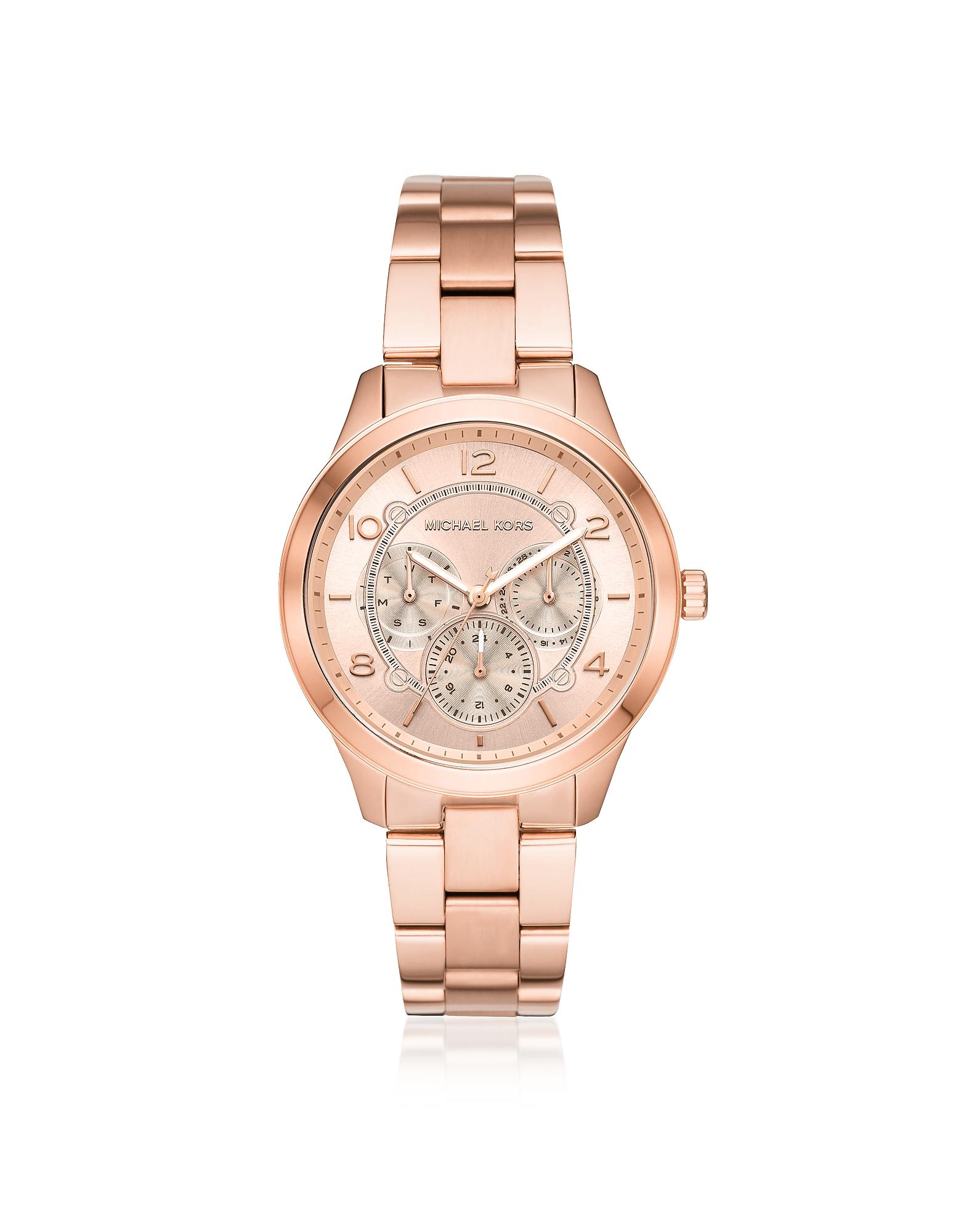 Runway Rose Gold-Tone Multi-function Watch