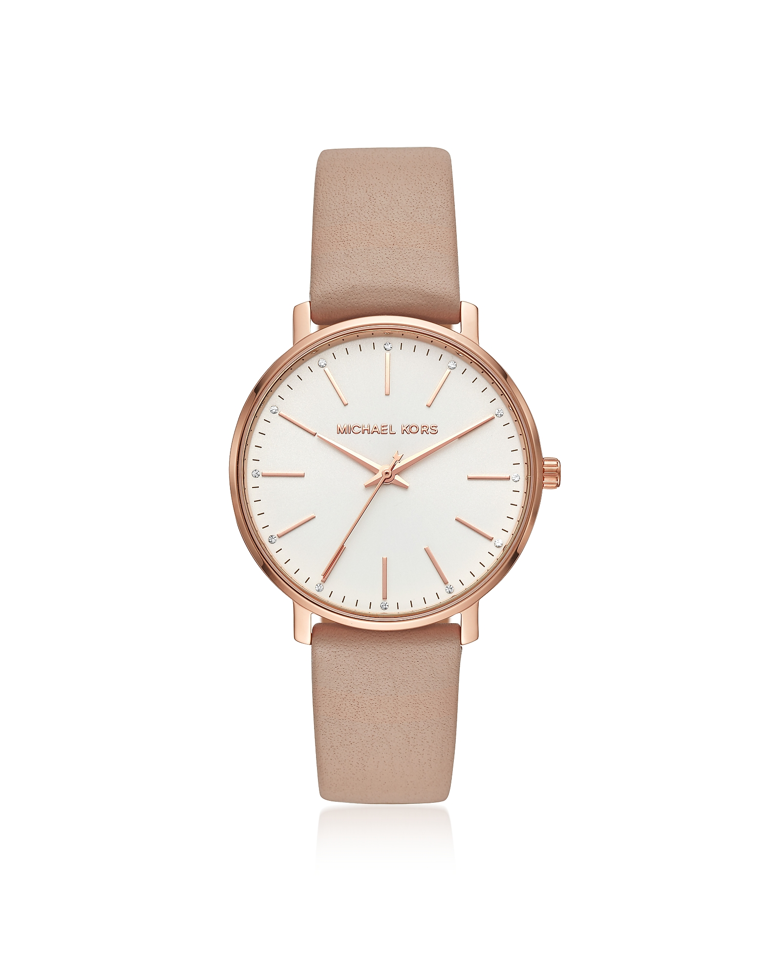 Pyper Gold Tone and Mocha Leather Watch