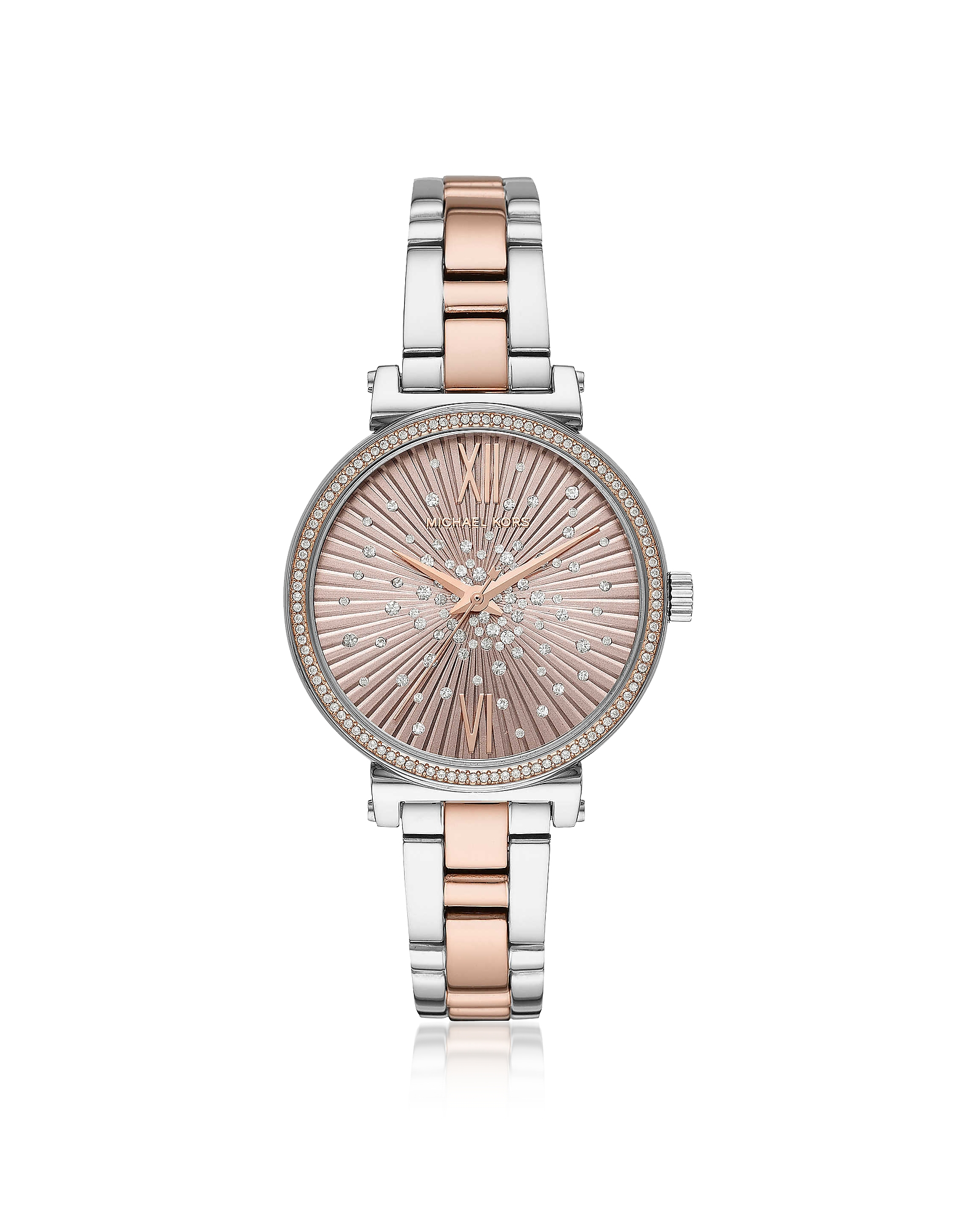 Michael Kors  Women's Watches Sofie Pavé Two Tone Watch