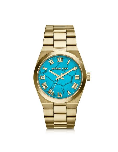 Michael Kors Mid-Size Channing orologio in Acciaio con Quadrante Effetto Marmo
