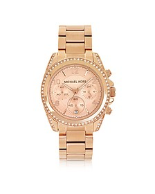Rose Golden Blair Chronographen Glitz Damenuhr - Michael Kors
