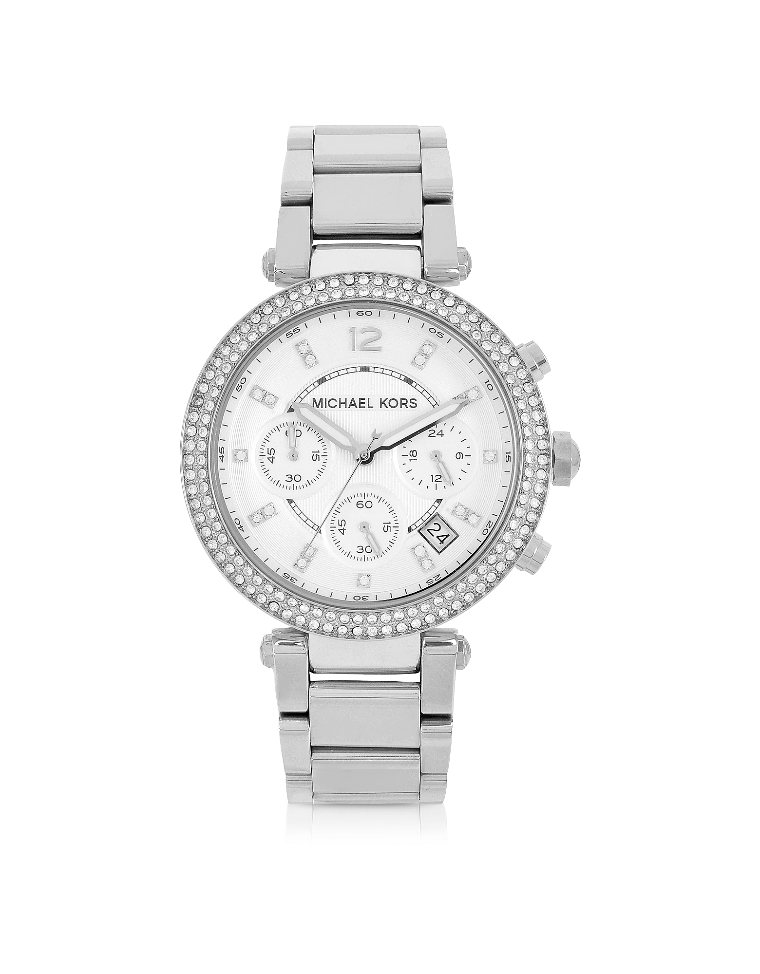 Michael Kors Women's Watches, Parker Stainless Steel Chronograph Glitz Watch Women's Watch