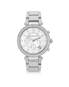 Parker Stainless Steel Chronograph Glitz Watch Women's Watch - Michael Kors