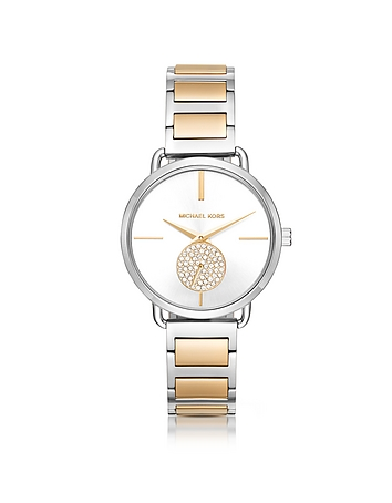Michael Kors - Portia Two-Tone Stainless Steel Women's Watch