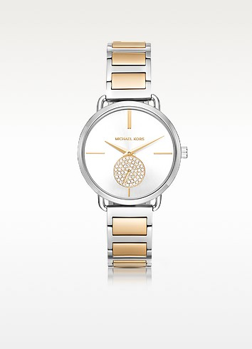 Portia Two-Tone Stainless Steel Women's Watch  - Michael Kors