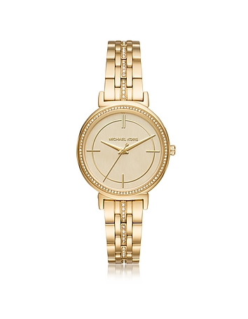 Michael Kors - Cinthia Golden Stainless Steel Women's Watch