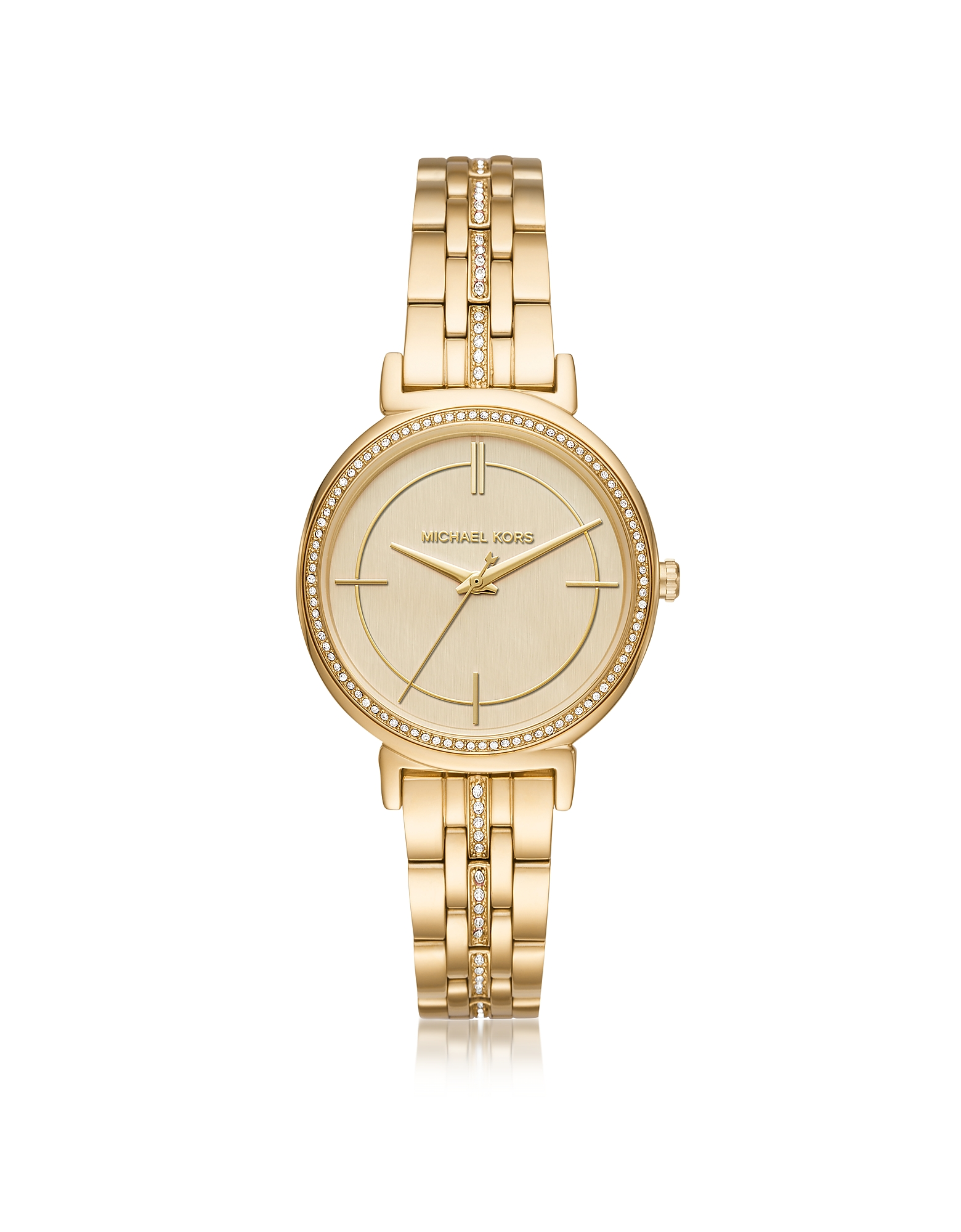 Michael Kors Women's Watches, Cinthia Golden Stainless Steel Women's Watch