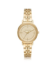 Cinthia Golden Stainless Steel Women's Watch - Michael Kors