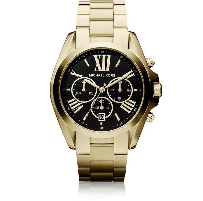 Bradshaw Goldtone Stainless Steel Women's Chronograph Watch - Michael Kors