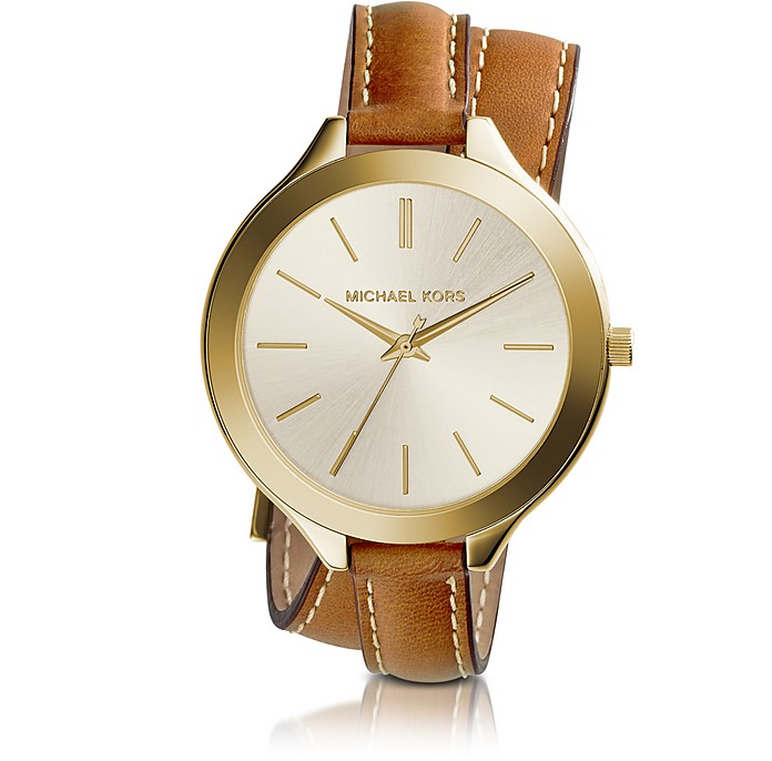Slim Runway Double-Wrap Women's Watch - Michael Kors