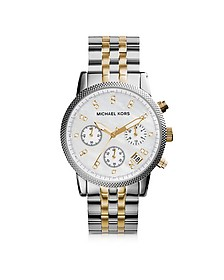Ritz Two Tone Stainless Steel Women's Watch - Michael Kors